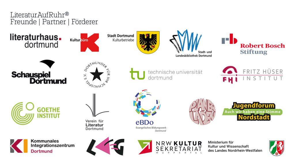 LiteraturAufRuhr | Freunde Partner Förderer | 2019